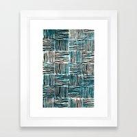 Black and Blue Pattern Print Framed Art Print