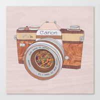 Wood Canon Canvas Print