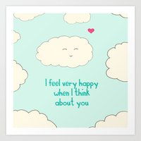 Happy Cloud Art Print