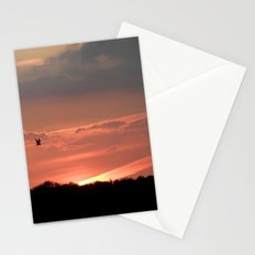 A Bird at Sunset Stationery Cards