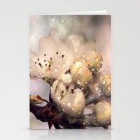 Springtime galaxy Stationery Cards