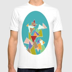 Triads Triads Triads SMALL White Mens Fitted Tee