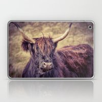 Long Horn Highland Cow Laptop & iPad Skin