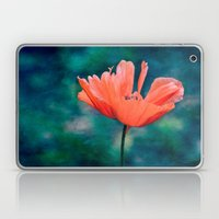 Lonely poppy Laptop & iPad Skin