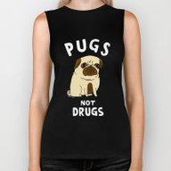 Pugs Not Drugs Biker Tank