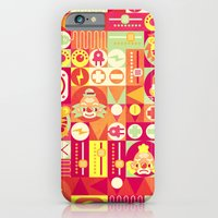 iPhone & iPod Case featuring Electro Circus by chobopop