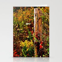 Fence Post Fall Stationery Cards