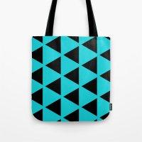 Sleyer Black on Blue Pattern Tote Bag
