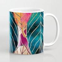 Colorful Leaves Pattern Mug