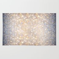 Rug featuring Glimmer Of Light (Ombré… by Soaring Anchor Desig…