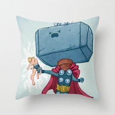 The Mighty Mjolnir Throw Pillow