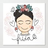Frida Carinhas Canvas Print