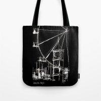 Black London Tote Bag