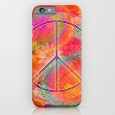 Hippie Chic Paisley Flowers Peace iPhone 6 Slim Case