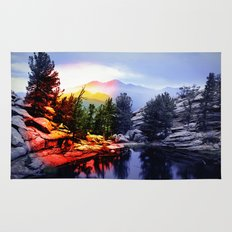 Colorado Flag/Landscape Rug