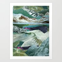 Experiment am Berg 14 Art Print