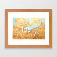 The Lost T Framed Art Print