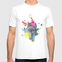 Sydney Tower Abstract Mens Fitted Tee White SMALL