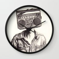 Radio-Head Wall Clock