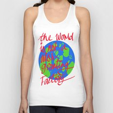 the world is not a wish granting Unisex Tank Top