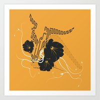 Untitled Art - Orange Art Print