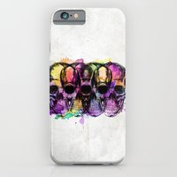 iPhone & iPod Case featuring Watercolor skulls by Aurelie Scour