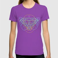 Material Womens Fitted Tee Ultraviolet SMALL