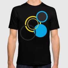 Dots Black SMALL Mens Fitted Tee