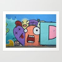 Graffiti guys Art Print