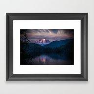 Sunset Mt. Rainier, Mine… Framed Art Print
