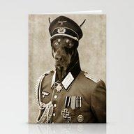 Doberman; Second War Dob… Stationery Cards