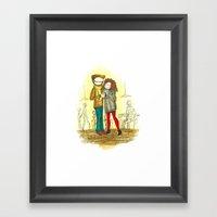 Coffee + Love Framed Art Print