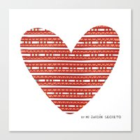 CORAZON (rojo) Canvas Print