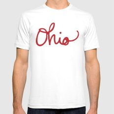 Ohio White Mens Fitted Tee SMALL
