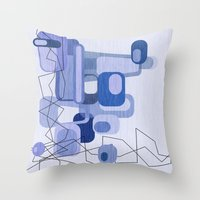 Feeling Blue. Throw Pillow