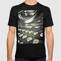 speed test {gray Mens Fitted Tee Tri-Black SMALL