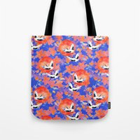 Japanese Garden: Cranes, Sun and Blossoms LT Tote Bag