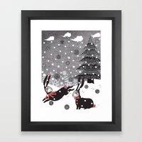 Snow Carnival Framed Art Print