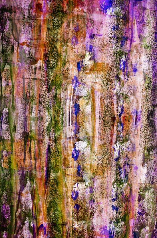 floating / purple Art Print