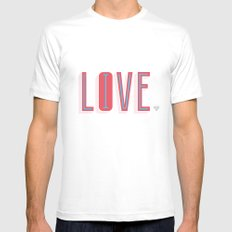Live & Love White Mens Fitted Tee SMALL