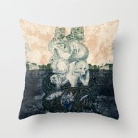 Throw Pillow featuring The Forest Folk by Creative Cat's Studio - Tricia W. Beal