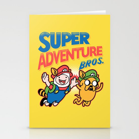 Super Adventure Bros Stationery Card