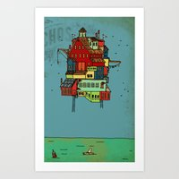 Floating Home. Art Print