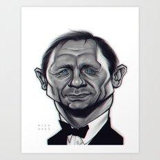 Daniel Craig as James Bond / B&W Variant Art Print