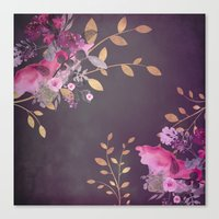 FLOWERS & GOLD  Canvas Print