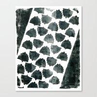 Grey Maple Print Canvas Print
