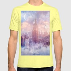 All Of The Stars / City … Mens Fitted Tee Lemon SMALL