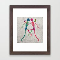 Skeleton Crush With Bana… Framed Art Print