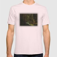 Snow White Mens Fitted Tee Light Pink SMALL