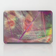 Colored dry leaf iPad Case
